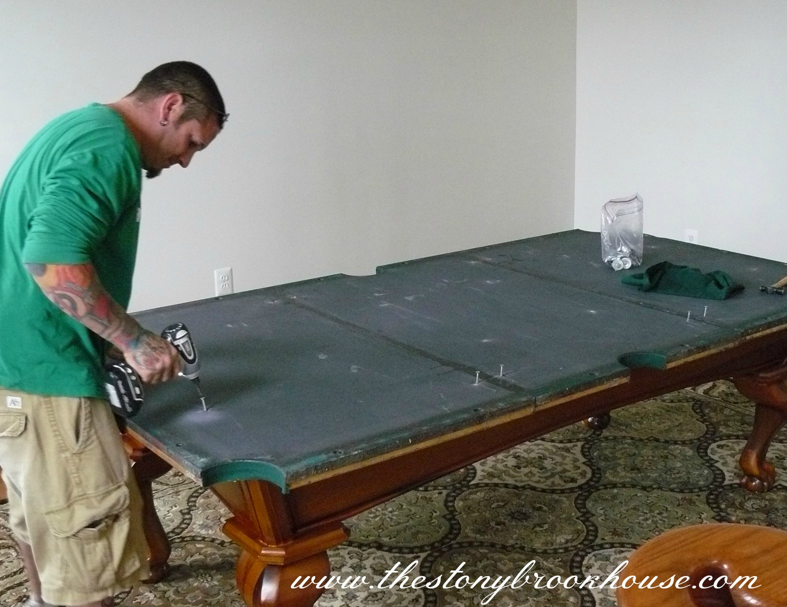Pool table is in the stonybrook house for Pool table house