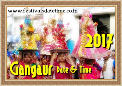 2017 Gangaur Hindu Festival Date & Time in India