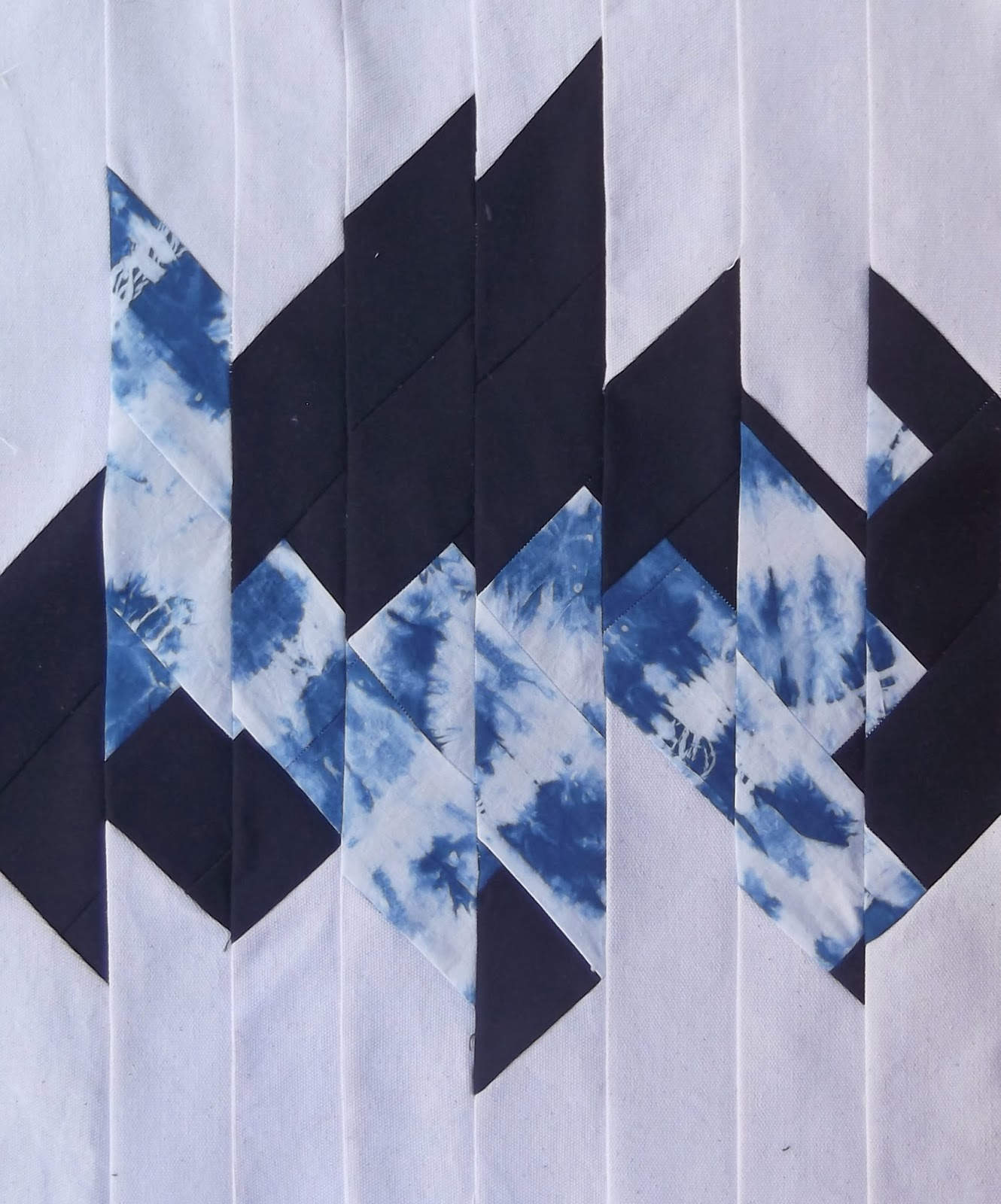 modern patchwork, contemporary patchwork, shibori, patchwork