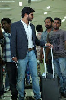 dulquer salmaan during the shoot