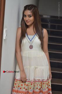Telugu Actress Anu Emmanuel New Stills in Beautiful White Long Dress  0016.JPG