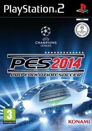 Capa do jogo Pro Evolution Soccer 2014 PS2 em português