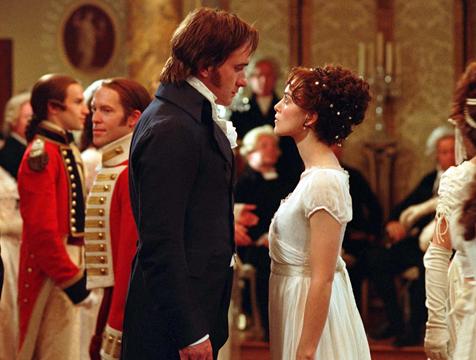 Mr. Darcy (Matthew Macfadyen) y Elizabeth Bennet (Keira Knightley) en Orgullo y prejuicio - Cine de Escritor