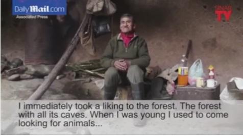 Lelaki Tinggal Dalam Gua Selama 40 Tahun