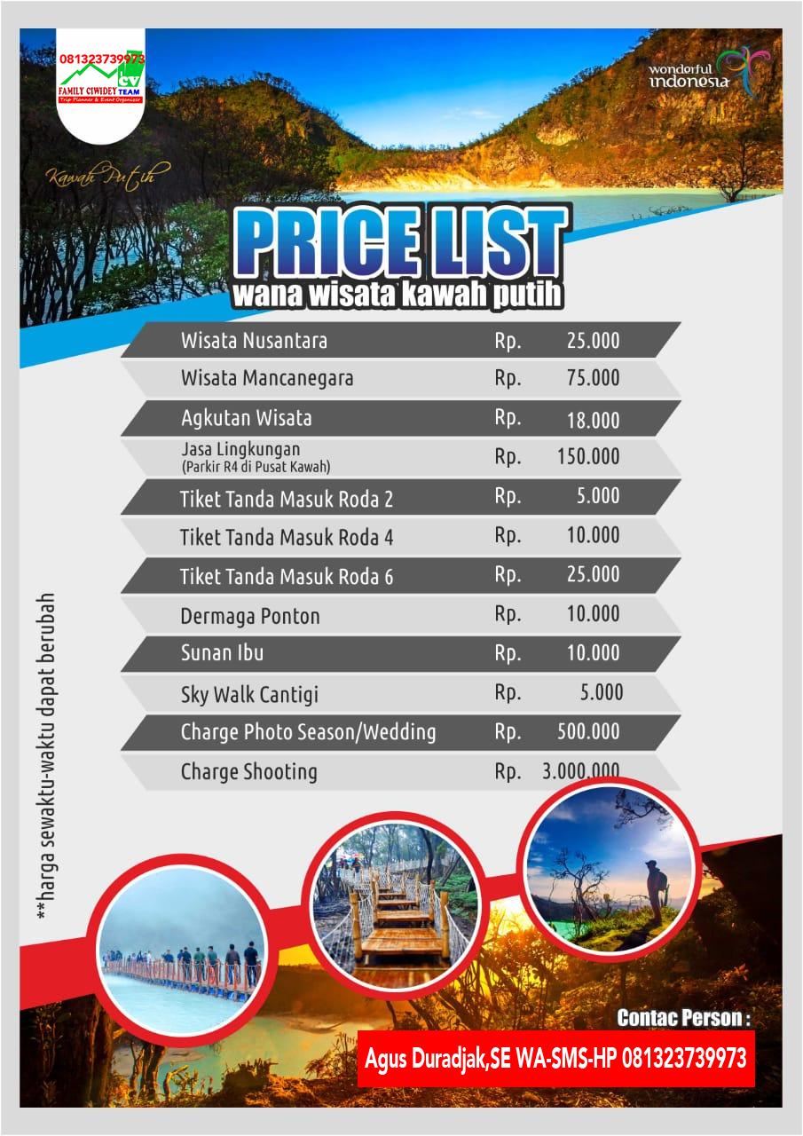 Harga Tiket Masuk Kawah Putih Ciwidey dari Jakarta