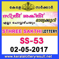 2.5.2017 Sthree Sakthi Lottery SS 53 Results Today