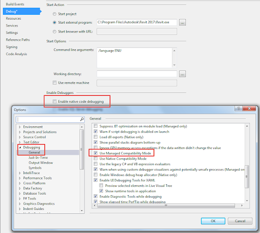 "VS2015: ""Use Managed Compatibility Mode"" или ""Enable native code debugging""?"