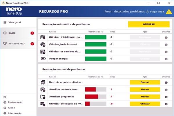 Nero TuneItUp um dos software mais eficientes na faxina e melhoria de desempenho do PC