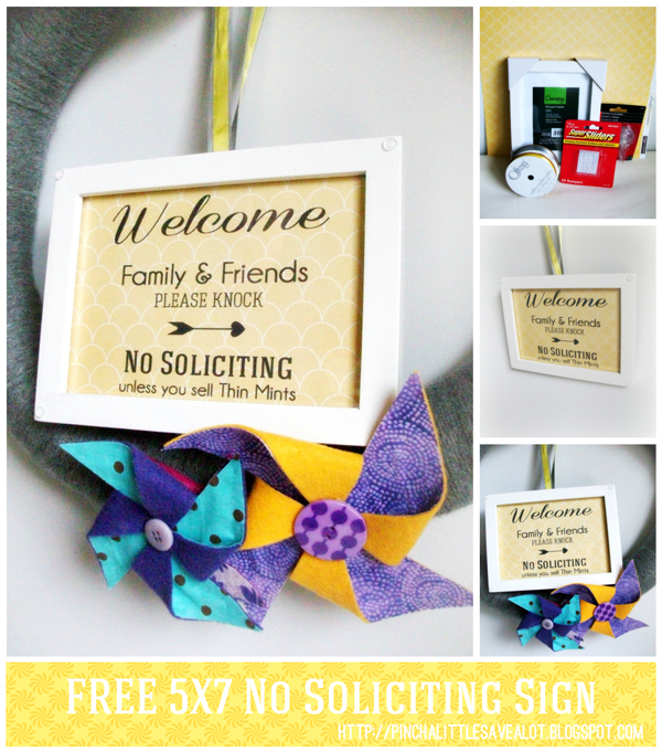 picture about Printable No Soliciting Sign known as Absolutely free: Printable No Soliciting Indication Pinch A Tiny Help save-A-Whole lot