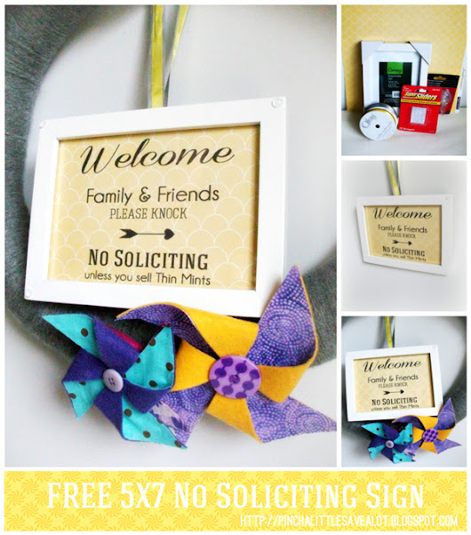 Pinch A Little Save-A-Lot: Free: Printable No Soliciting Sign