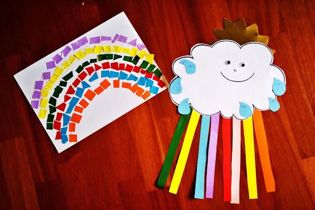 come nasce un arcobaleno bambini