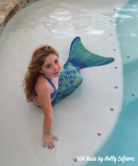 My daughter in her fin fun mermaid tail