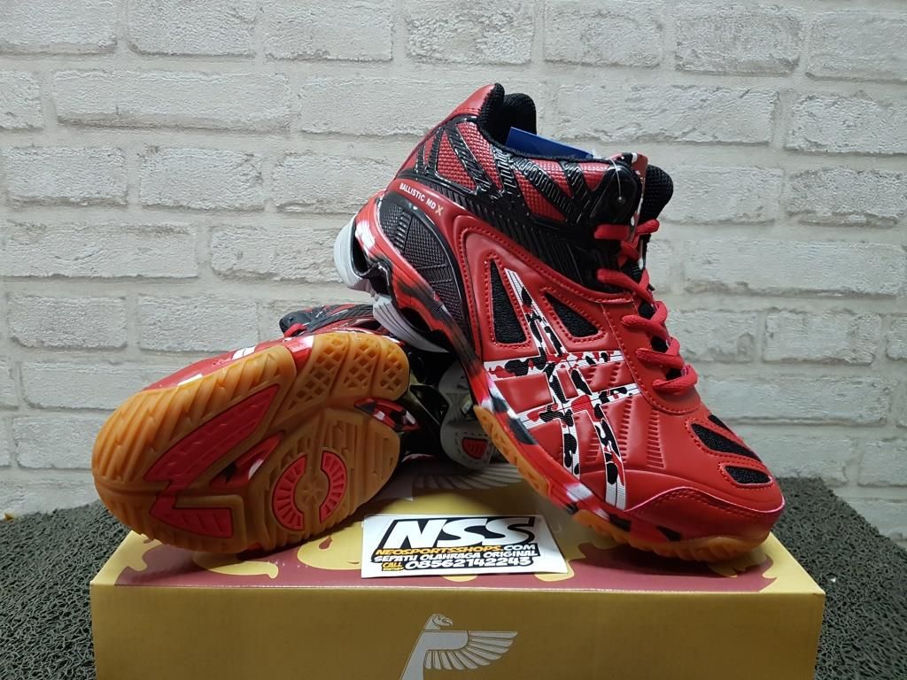 SEPATU VOLI PROFESSIONAL BALLISTIC MD X RED BLACK WHITE volly volley cf0687ee49