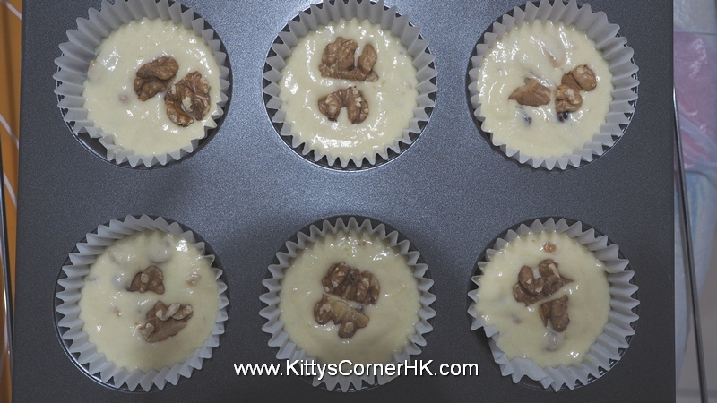 Blueberry Walnut Muffin 藍莓核桃鬆餅 自家烘焙 食譜 home baking recipes