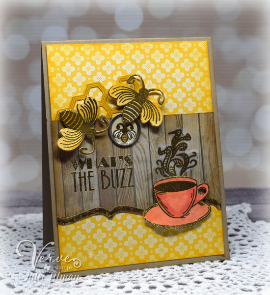 Card by Julee Tilman using Verve Stamps| www.poeticartistry.blogspot.com