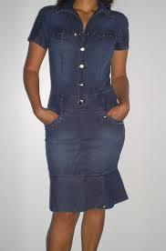 vestidos jeans com bolso na frente - fotos e modelos