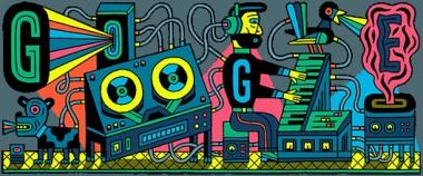 グーグルのロゴ:エレクトロニック・ミュージック・スタジオ(Electronic Music Studios)