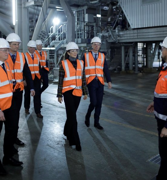 Crown Princess Mary wore Erdem x H&M Jacket Collection at Skærbæk Power Station (Skærbækværket)