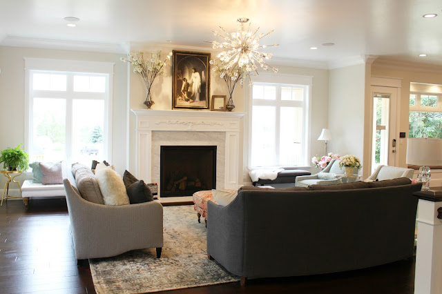 Home tour: Family room paint color