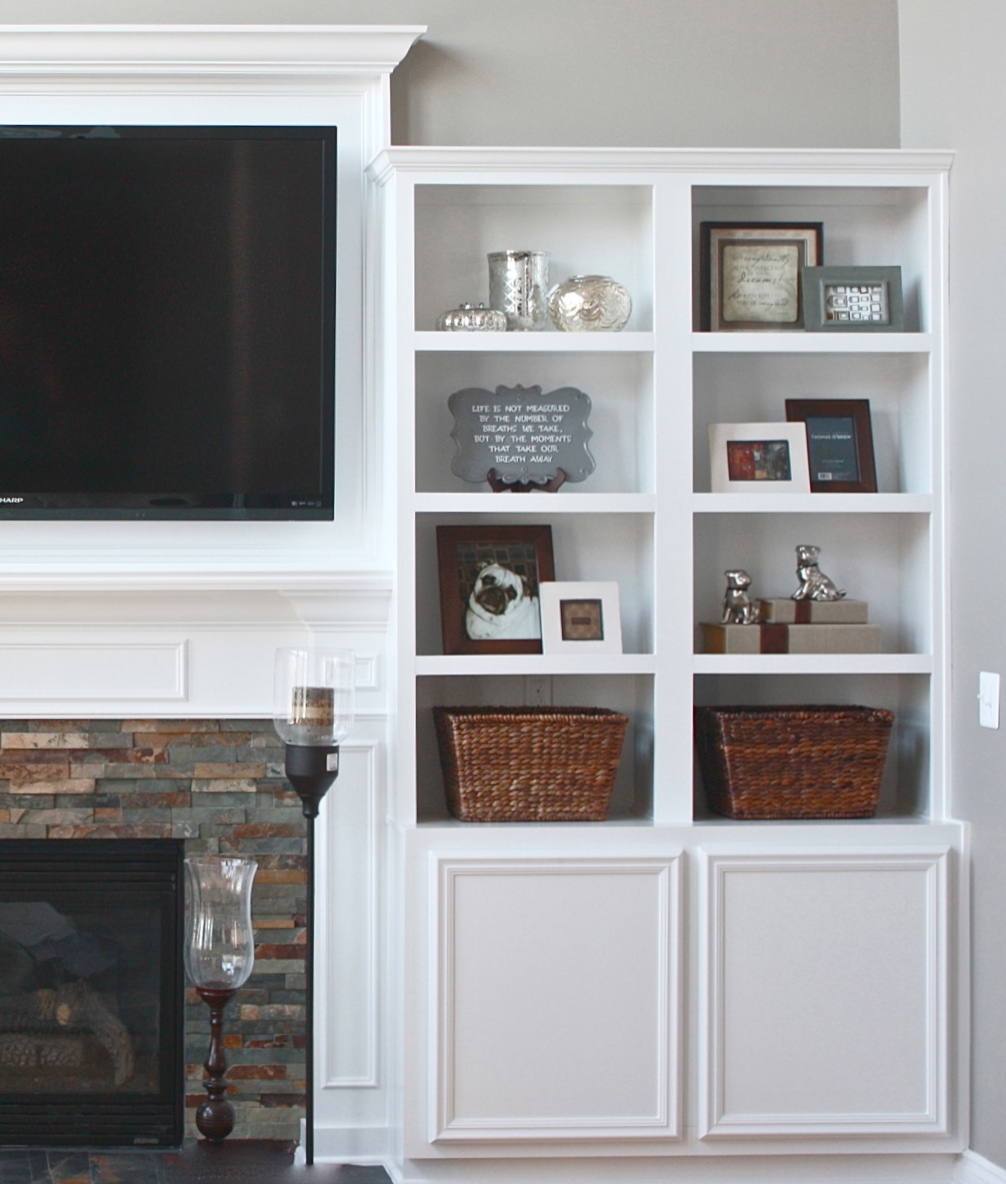 Fireplace Cabinets: The Yellow Cape Cod: Shopping The House