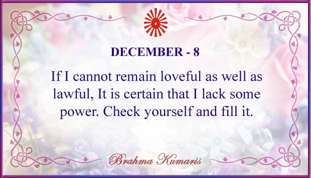 Thought For The Day December 8