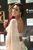 Prajna Actress in bhackless Cream Choli and transparent saree at IIFA Utsavam Awards 2017 017.JPG