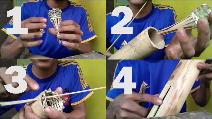 cara membuat perangkap belut dari batang bambu