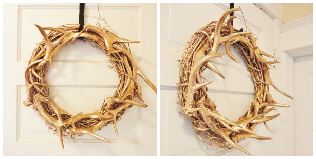Copper Antler Wreath Diy