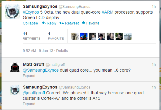 Samsung announces Exynos 5 Octa mobile processor with eight cores