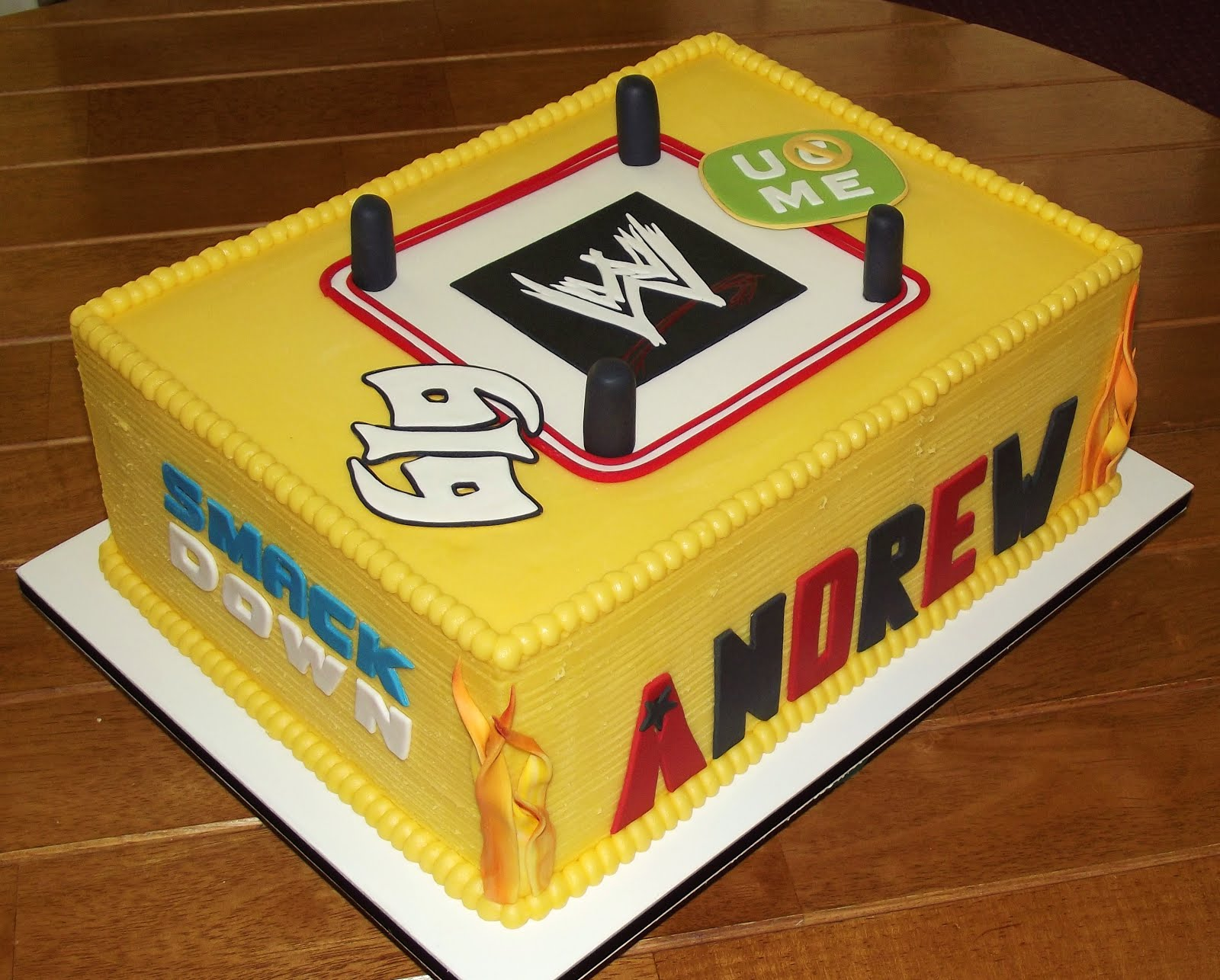 Homemade Wwe Wrestling Cake Ideas And Designs