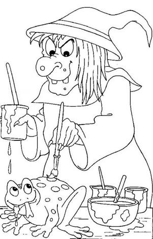 transmissionpress: 10 Halloween Witch Coloring Pictures