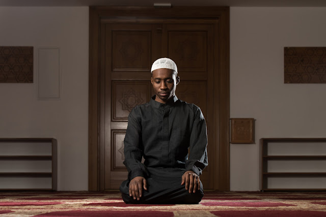 Picture of Muslim Man Praying.