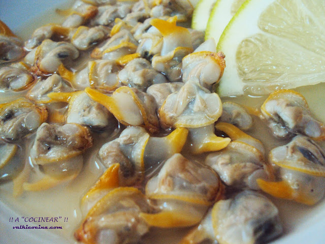 Berberechos al limón