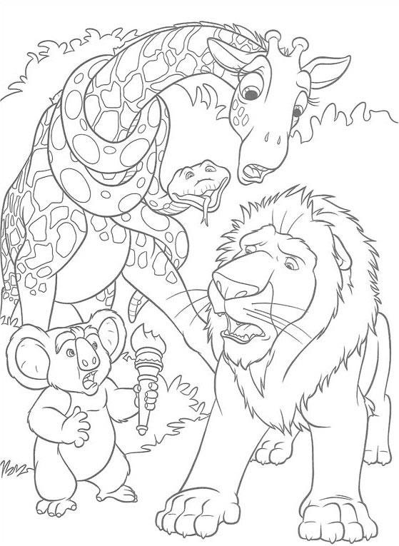 Animale In The Wild Gradina Zoo Imagini De Colorat