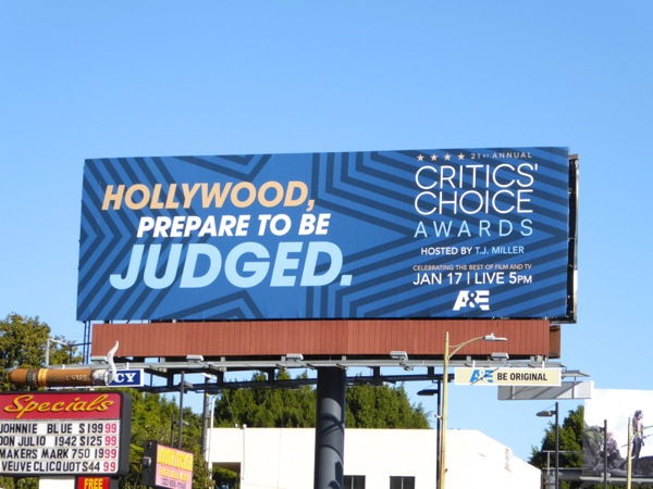 Critics Choice Awards Hollywood prepare to be judged billboard