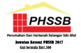 Jawatan Kosong Selangor PHSSB