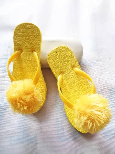 Sandal Jepit Pompom SHM Anak   PABRIK SANDAL MURAH