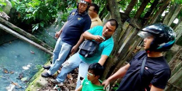 Tersangka pengedar narkoba di Asahan yang diringkus polisi saat berada di pinggir sungai
