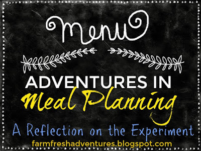 Adventures in Meal Planning ~ A Reflection