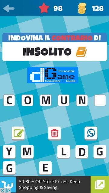 Sinonimi e Contrari (Il Gioco) soluzione livello 91-100