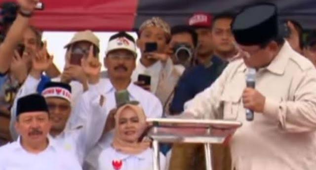 Prabowo Gebrak Podium, Gus Nadir : Kita Butuh Pemimpin yang Emosinya Stabil
