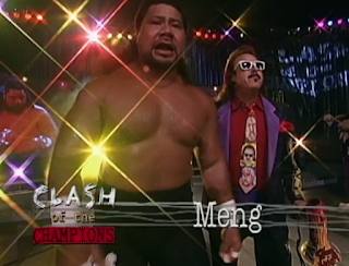 WCW Clash of the Champions 33 1996 REVIEW - Meng bt. Macho Man by forfeit when Savage no-showed