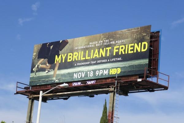 My Brilliant Friend series premiere billboard