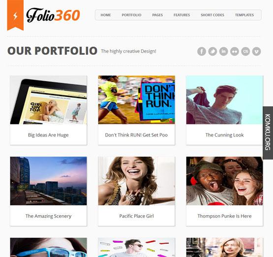 Folio 360 Blogger template