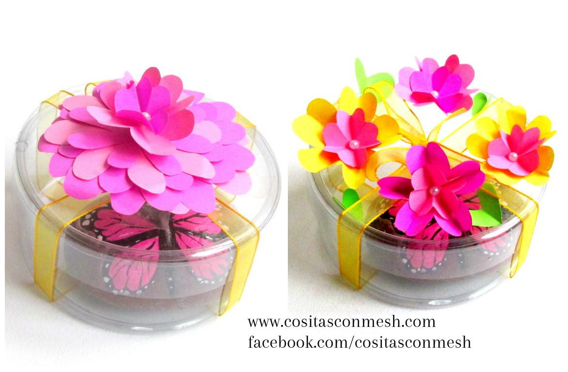2 Ideas para hacer flores de papel para regalos