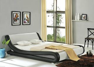 CHEAPEST BED in UK, ENZO ITALIAN MODERN DESIGNER 4FT6 DOUBLE FRAME ONLY (RED) £88.95