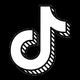 logo tiktok hitam putih