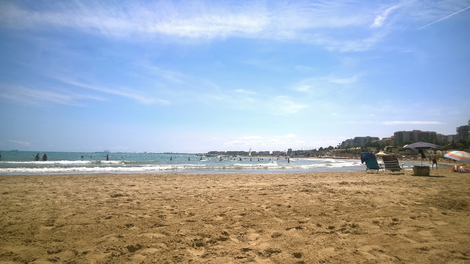 Benicassim beach and sea with blue skies