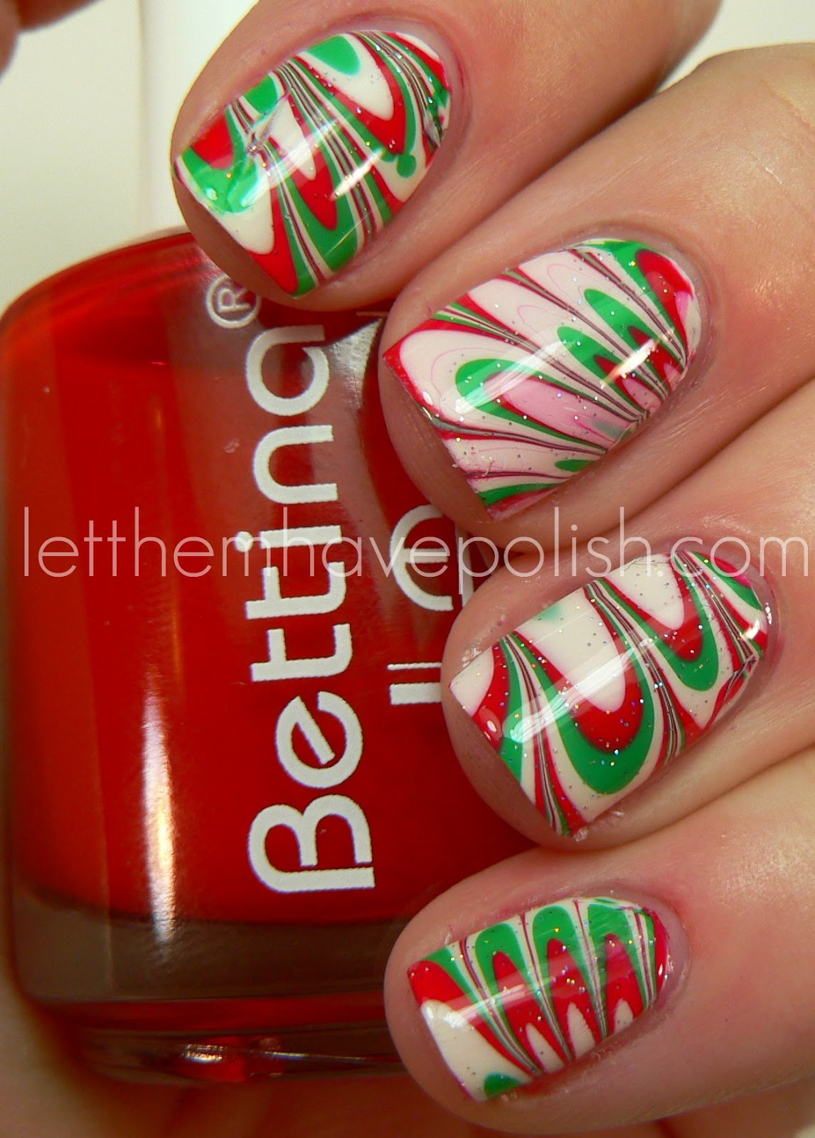 Christmas Nail Art French Manicure Red With White: Let Them Have Polish!: Merry Christmas!!! Holiday