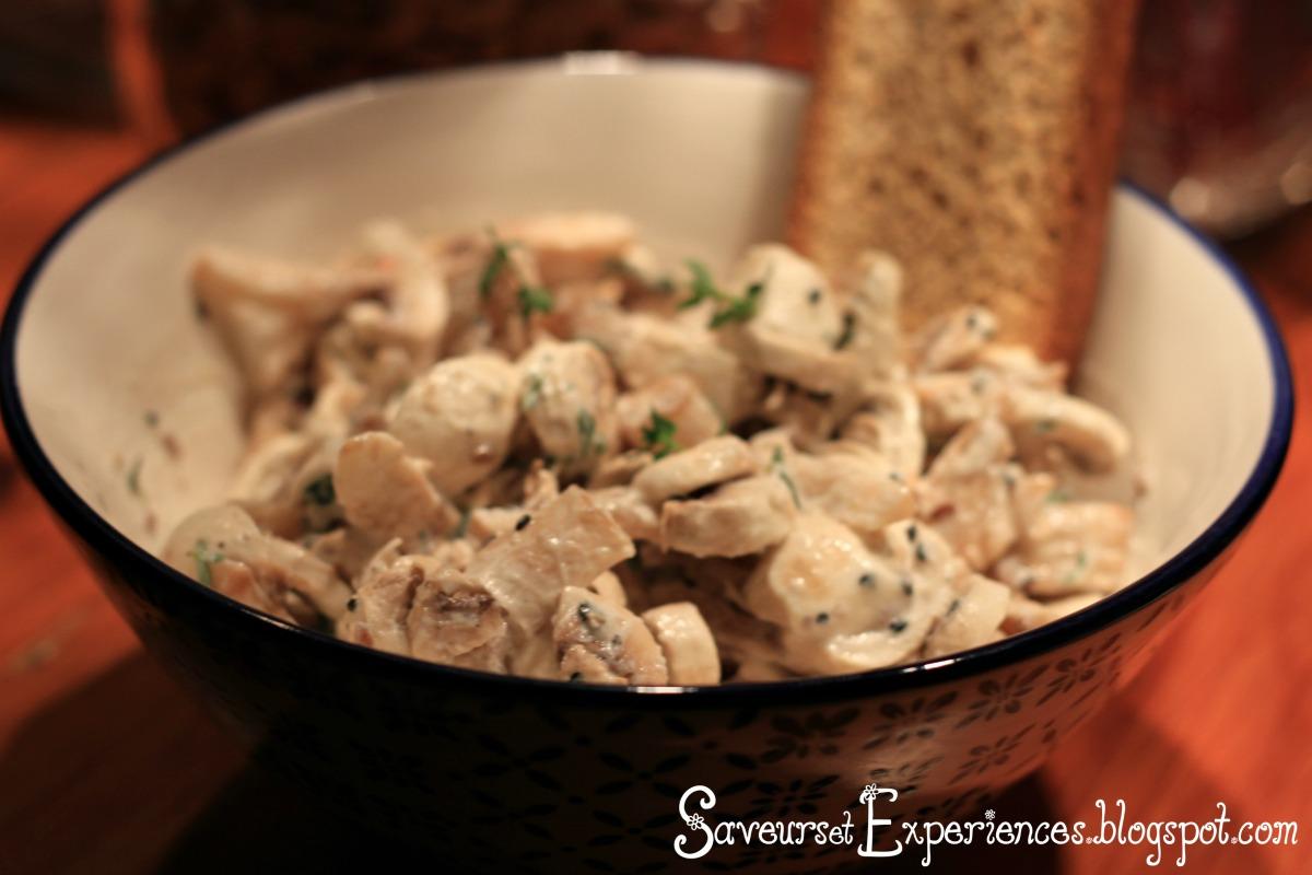 Saveurs et exp riences salade de champignons de paris frais - Salade de champignons frais ...